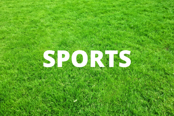 sports - written in white text on a background of a green lawn