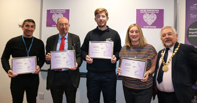 Winners of staff awards at Scottish Housing Day 2019