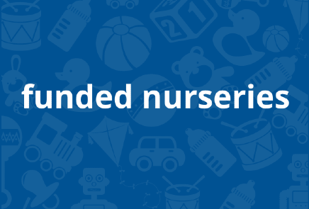 Image link to information on funded nurseries' 1140 hours provision