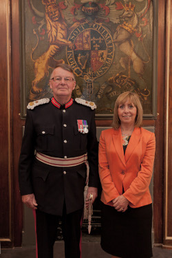 Michael Williams MBE, Lord Lieutenant and Angela Leitch, Chief Executive