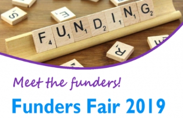 Promotional image to promote Funders Fair 2019