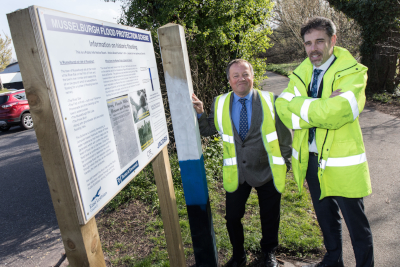 Musselburgh flood protection scheme - Dave Northcott and Conor Price